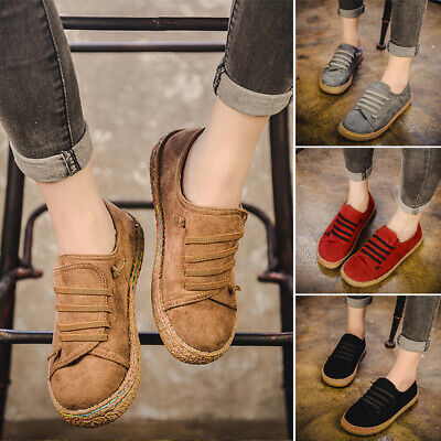 Retro Women Loafers Lazy Shoes Cover Shallow Mouth Flat Moccasins Slipper Flats