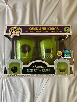 SDCC 2019 Funko The Simpsons Kang and Kodos 2 Pack Pop IN HAND Official Sticker.