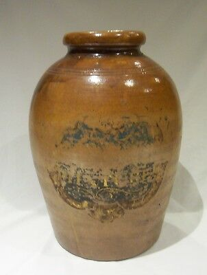 Very Large Eighteenth / Nineteenth century salt glazed stoneware Tobacco Jar