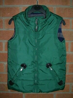 JOHN LEWIS Boys Green Quilted Jacket Coat Body Warmer Gilet Age 8 128cm