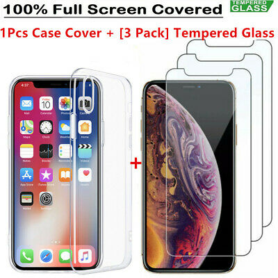 Tpu Case with Screen Protector for iPhone 11 Pro XS Max Gorilla Tempered Glass