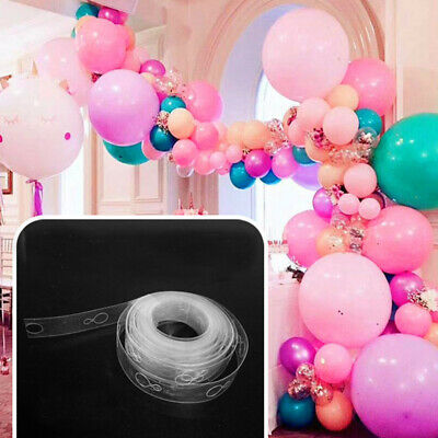 5M Balloon Arch Decor Strip Connect Chain Plastic DIY Tape Party Supplies T