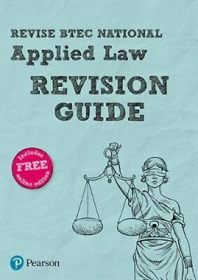 Revise BTEC National Applied Law Revision Guide by Richard Wortley 9781292221656