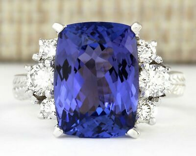 Fashion Silver Princess Blue Sapphire Gemstone Ring Women Bridal Jewelry Gift S9