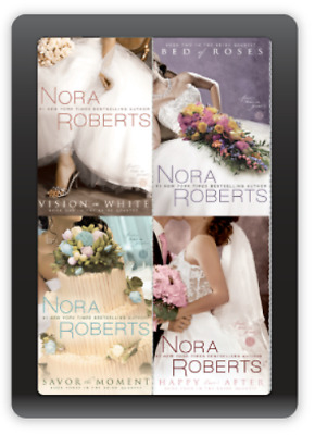 NORA ROBERTS, Bride Quartet.Audio Books, all 4 Titles, in MP3 format on DVD.
