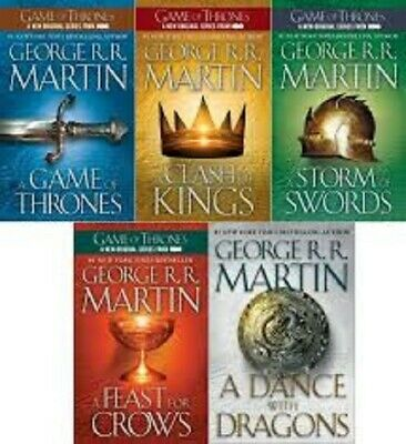 Game of Thrones 1-5,George R R Martin.A Song of Ice and Fire,Audio Books 3 DVD's