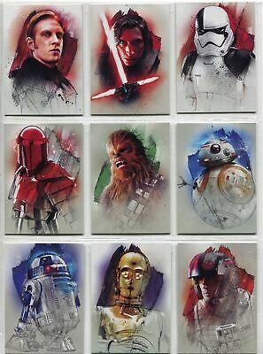 Star Wars Journey To The Last Jedi Complete Character Chase Card Set #1-16