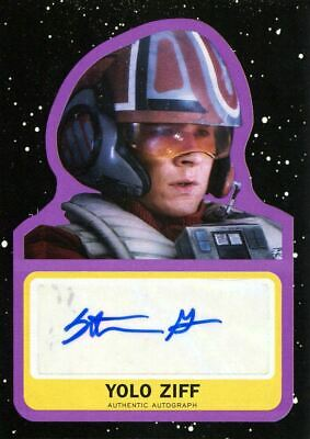 Star Wars Journey To The Last Jedi Purple Autograph Card [99] Stefan Grube
