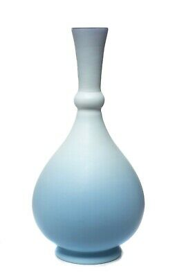 Antique Persian Shape Duck Egg Blue Cased Glass Vase - Bohemian Islamic Market