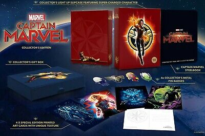 Coffret Captain Marvel Steelbook 3D 2D Édition Collector Exclusive Zavvi