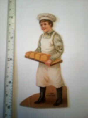 Lion Coffee Paper Doll Baker Baker doy Victorian Advertising Trade Card 1800's