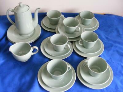 "Woods  ""Beryl""  Green  Ware -26 Pieces Inc.trios& Coffee Pot -Good Condition !"