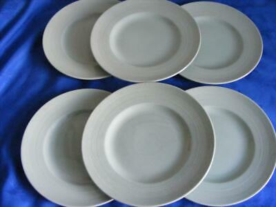 """Woods  """"Beryl""""  Green Utility Ware -6 X 10"""" Dinner Plates - Good Condition !"""