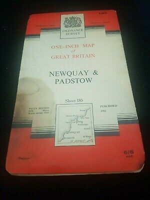 Antique Ordnance Survey Map Of Newquay And Padstow Cornwall