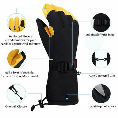 -40℃ Waterproof Winter Gloves Ski Glove Snowboard Warm Touch Screen Leather