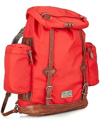 Ralph Lauren Yosemite Backpack~Red Nylon & Leather~Fab Condition~Hard To Find