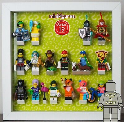 Minifigures Display Cadre lego série 19 71025 minifigs figures complet Extensions