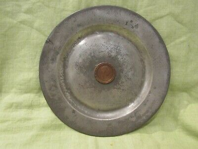 Early Antique Pewter Plate with 1797 Britannia Georgius II D.G. Rex Coin Charger