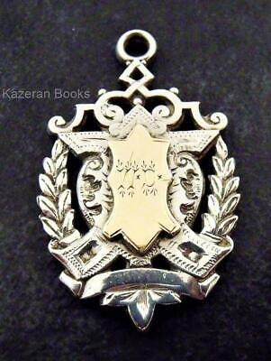 Antique Edwardian Solid Silver Pocket Watch Albert Chain Medal Or Fob 1906