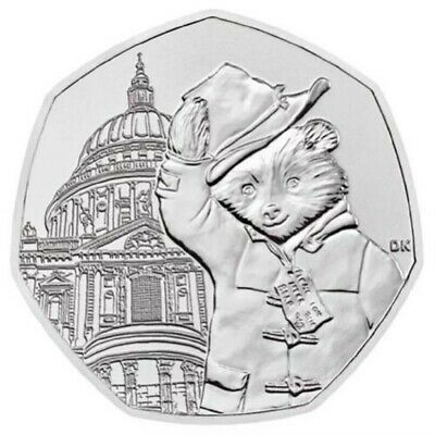 2019 Uk Paddington Bear At St Paul's Cathedral Uncirculated Coin 50P Fifty Pence