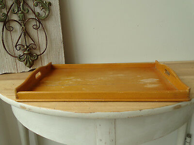 S3082 Old Tray from Wood~Vintage~Wooden Tray ~Serving Tray~ Antique