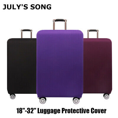 """18""""-32"""" Solid Travel Luggage Cover Elastic Suitcase Anti-Scratch Dust Protector"""