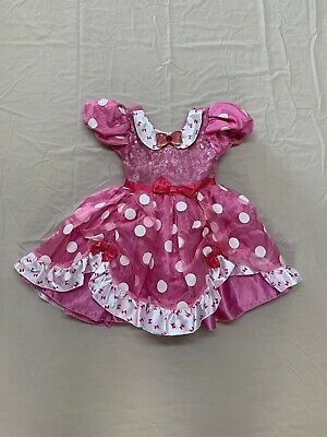 Disney Store Minnie Mouse Girls Pink Bows Dress/Halloween Costume--size 3