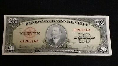 Central America Banknote 20 Peso 1958 HARD TO FIND Banknote  # 138