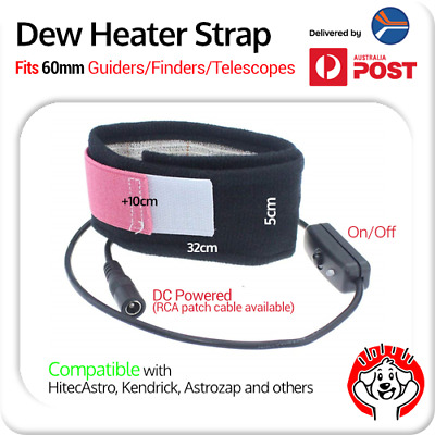 Dew Heater Strap for 60mm Guider, Finder or Telescope (12″ / 32cm long)