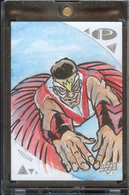 2019 UD Marvel Premier - 1 of 1 Sketch - FALCON by Artist I can't read the name