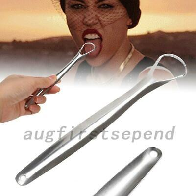 3pcs Stainless Steel Tongue Cleaner Scraper Dental Care Hygiene Oral Reusable