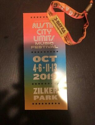 Austin City Limits Music Festival One 3-Day Bracelet Weekend One October 4-6