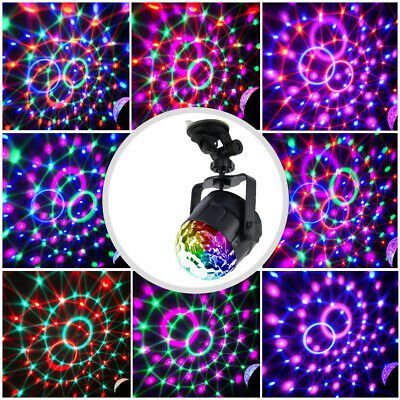 3 Mode Disco Party Lights Ball DJ Strobe Led Laser Indoor Sound Activated Gift