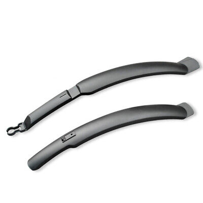 """2x Longer Bicycle Front Rear Mudguard 26"""" Mountain Bike Extended Fender Black"""