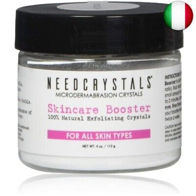 NeedCrystals Microdermabrasion Crystals, Scrub facciale. 227  (227 g (120 Grit))