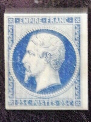 France N° 15 Napoleon Neuf Gomme Sans Charniere Ni Trace Signe Scan Recto Verso