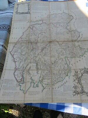 New Map of counties of Westmorland and Cumberland 1760, Lowther interest.