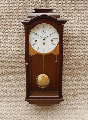 Superb Kieninger Walnut Triple Chime Wall Clock. Cost approx £2400 new