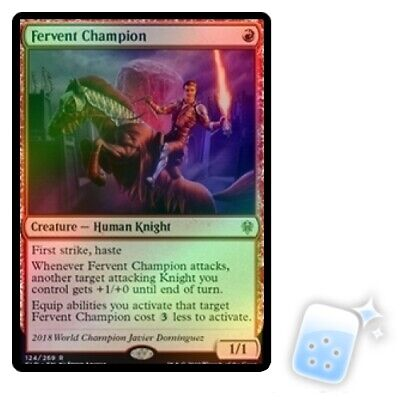 FOIL FERVENT CHAMPION Throne Of Eldraine ELD Magic MTG MINT CARD