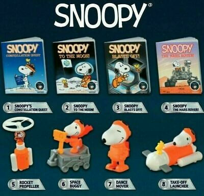 2019 McDONALDS PEANUTS SNOOPY NASA HAPPY MEAL TOYS AND BOOKS #1