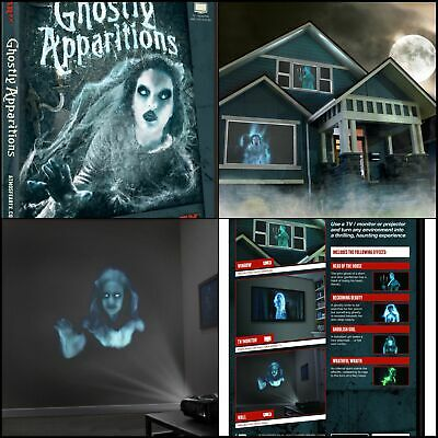 AtmosFX Ghostly Apparitions Digital Decorations DVD for Halloween Holiday NEW