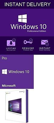 Email Windows 10 Pro Professional 32 & 64 Bit Activation Code License Oem