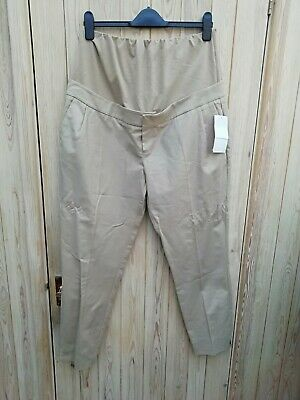 Blooming Marvellous Beige Maternity over the bump Trousers Size 16. BNWT