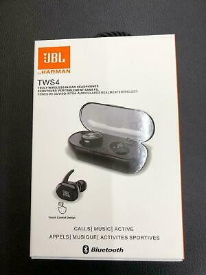 NEW-JBL Sports TWS4 Wireless Bluetooth 5.0 In-Ear Headphones Earphones  Black