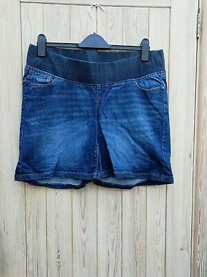 Next maternity under the bump denim shorts size 16