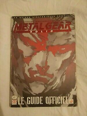 Guide Officiel Metal Gear Solid Playstation 1998 Piggyback Stratégique Francais