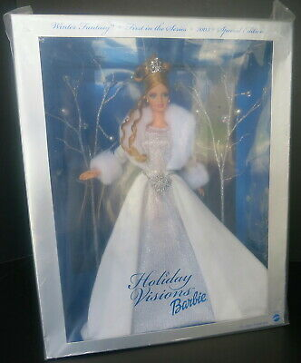 2003 Holiday Visions Winter Fantasy Barbie Doll Special Edition 1St/ Series Nrfb