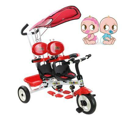 BABY STROLLER Novelty Rare Twins Kids  Tricycle 4 in 1