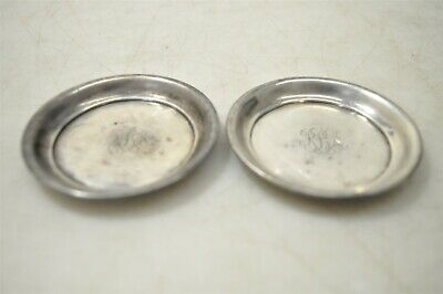 Pair Of Randahl Marked Sterling Silver .925 Butter Plates 32g