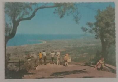 Old post card Postcard - Bulli Lookout - View south to Wollongong NSW Australia